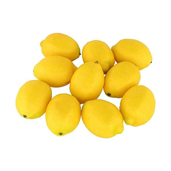 10Pcs Fake Lemon Artificial Fruits Model Lifelike Yellow Lemon Home House Kitchen Party Decoration Desk Ornament