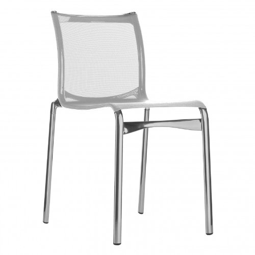 441 Bigframe Stuhl lackiert, weiß lackiert BxHxT 44x86x61cm Gestell Aluminium