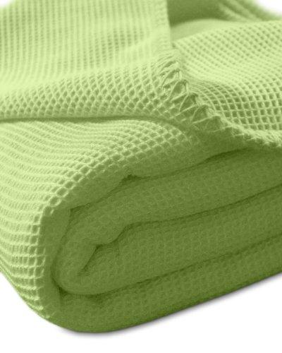 Sport-Tec Pique-Decke mit Zierstich-Einfassung, 210x150 cm, Grün