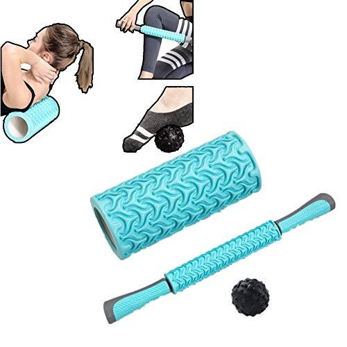 Juego de Rodillos de Espuma Equipo de Fitness Rodillo de Espuma de Alta Densidad y Extra Firme fácil de Limpiar