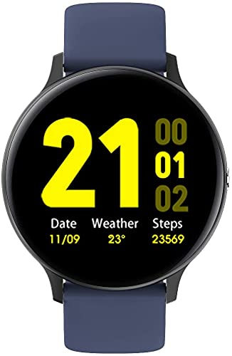 Reloj inteligente IP67 Relojes de relojes personalizados impermeables, relojes para hombres Mujeres Fitness Tracker Monitor de ritmo cardíaco, SmartWatch compatible con iPhone Samsung Android Teléfono