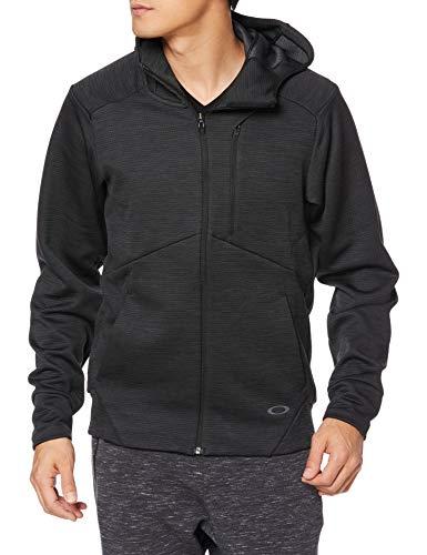Oakley Men's Enhance Grid 10.7 Fleece Jackets,X-Large,Blackout