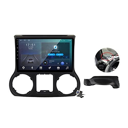Android 10 GPS Navegación del Coche Estéreo para Jeep Wrangler 3 JK 2012-2017 con 10,1 Pulgada Táctil Soporte Split Screen/FM Am RDS Radio/Control del Volante/Carplay Android Auto
