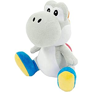 "Little Buddy 1393 Super Mario All Star Collection 7"" White Yoshi Plush - 41QOiNabLtL - Little Buddy 1393 Super Mario All Star Collection 7″ White Yoshi Plush"