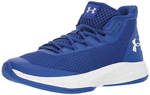Under Armour UA Jet Mid, Zapatos de Baloncesto Hombre, Azul (Royal/White), 42 EU