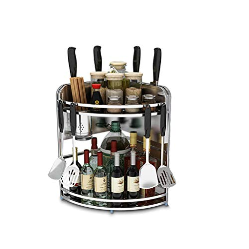 Kruidenrekken 2-laags kruidenrek - Spice Organizer - Spice Holder - Keukenrekken Opslag - Keuken aanrechtblad - Kruidenrek - Vrijstaand voor kruidenpotje, blikje, fles en meer