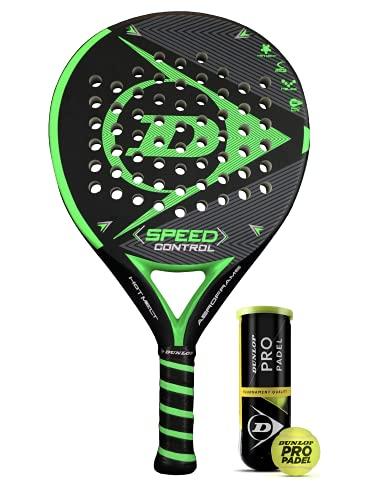 Dunlop Speed Control Padel, incluye funda protectora y 3 pelotas Dunlop Pro Padel