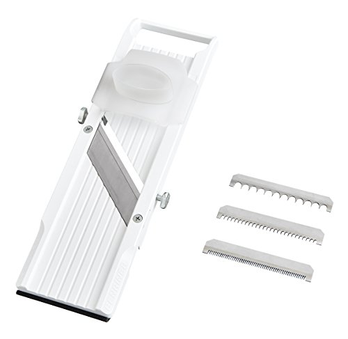 Benriner Mandoline Slicer, with 4 Japanese Stainless Steel Blades, BPA Free,   New Model