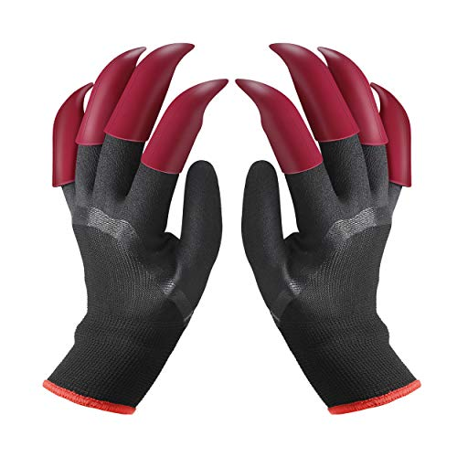 FX Garden Gloves With Claws On 8 Fingertips