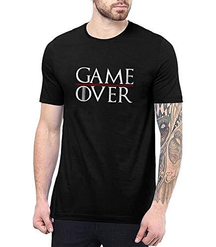 Game Over Shirt Mens - Game TV Series Thrones Merchandise,Black-GameOver,Medium