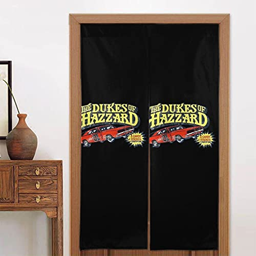 The Dukes of Hazzard Cartoon Shower Curtains Target Durable Waterproof Resistant Fabric Funny Bath Shower Curtain for Bedhroom 34 X 56 Inches