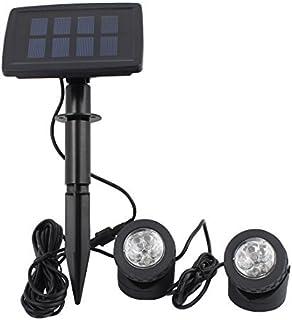 eDealMax Negro energía solar 12 LED del paisaje del proyector de proyección de luz w 2