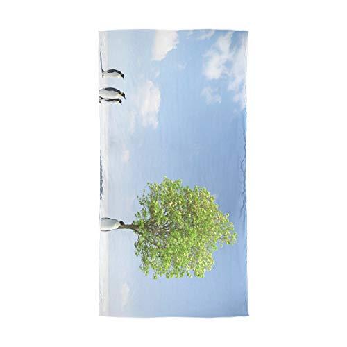 XiangHeFu A Tree Growing Antrtida Pauelo para el cuello Bufanda de seda Chiffon Shawl Muffler Papel de regalo