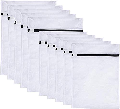 Wäschenetze, Wäschebeutel Wäschesack für die Waschmaschine 10 Stück Haltbarer Netz-Wäschebeutel mit Reißverschluss für Feinwäsche Unterwäsche Feines und Socken