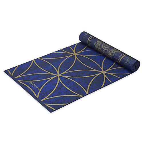 Gaiam - Tappetino da yoga reversibile, extra spesso, antiscivolo, per tutti i tipi di yoga, pilates e allenamento del pavimento, 6 mm