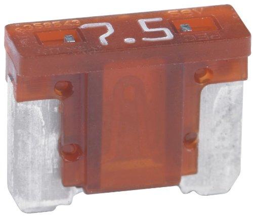 Bussmann BP/ATM-7-1/2LP-RP Brown ATM Low-Profile 7-1/2 Amp Fast-Acting Automotive Mini Blade Fuses - 5 per Card
