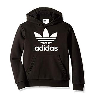 adidas Originals unisex-youth Trefoil Hoodie Black/White Small