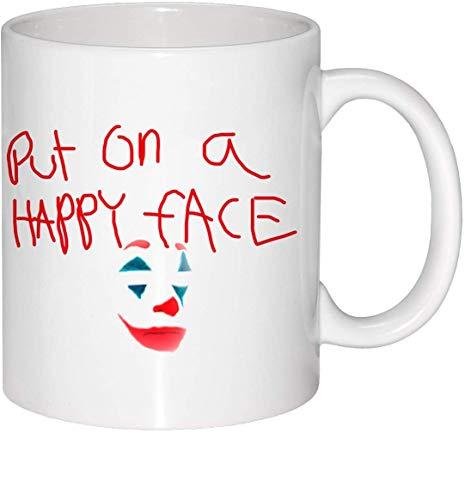 Becher Put On A Happy Face Joker Inspired Becher Spruch Tasse