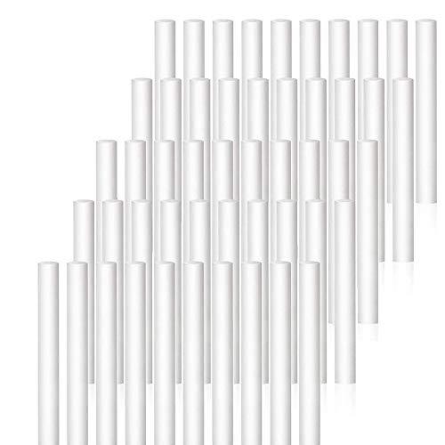 Xkfgcm 50Pcs filtres éponges 8 x 123mm(0.3 * 4.8inch) pour humidificateurs et tampons de Rechange en Coton pour diffuseur d'huiles essentielles USB Veuillez Vous référer à la Taille Lors de l'achat