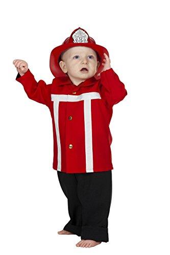 Jannes - Kinder-Kostüm Feuerwehrmann, rot, Kleinkinder 86