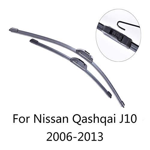 LILIGUAN Auto Wiper Set, Voor Nissan Qashqai 2006 2007 2008 2008 2009 2010 tot 2017, Zachte Rubber Voorruit Wipers