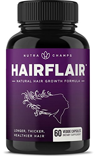 HairFlair - Hair Growth Vitamins with Biotin for Longer, Stronger, Healthier Hair - Hair, Skin and Nails Supplement - for...