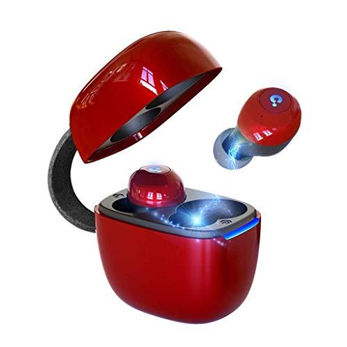 True Wireless Earbuds, Bluetooth 5.0 Headphones Sports, Stereo Sound Auricolari con Microfono, IPX5 Sweatproof Bluetooth Earbuds