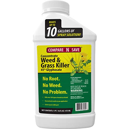 Ragan And Massey 75322 Comp N Save 16oz 41% Glyph Grs Kill Glyphosate Concentrate Grass and Weed Killer, 16 Oz, 16-Ounce