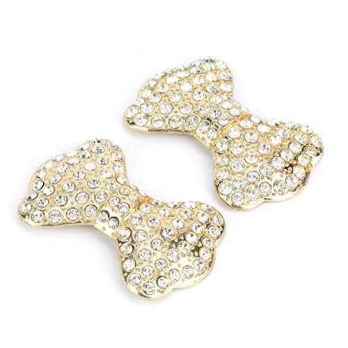 1 par de pinzas de zapatos de cristal con diamantes de imitación...