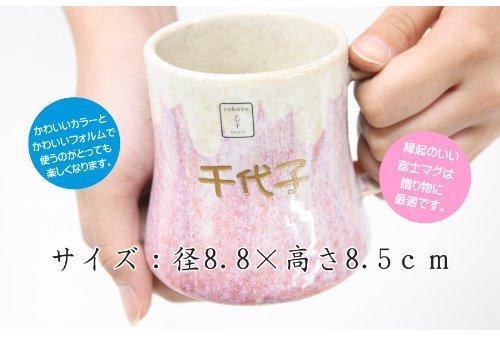 名入れ美濃焼ペアマグカップ<富士マグ>