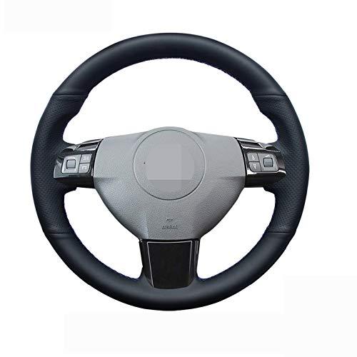 JTSGHRZ Lenkradabdeckung Für Opel Astra 2005 2006, Lenkradabdeckung aus schwarzem Echtleder