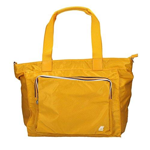Borsa Borsetta Shopping Bag Donna K-Way K-Toujours Flat Crossover K1R07-Giallo