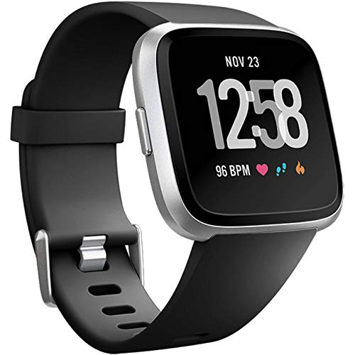 Wepro Replacement Bands Compatible with Fitbit Versa SmartWatch, Versa Lite SE Sports Watch Band for Women Men, Small, Black