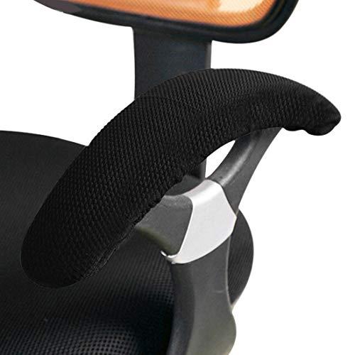 Jubang Funda para Reposabrazos de Silla de Oficina Elástica Cubierta de Brazo de Silla Funda Protectora para Apoyabrazo de Silla de Escritorio Negro