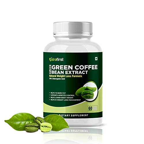 Nutrafirst Green Coffee Bean Extract Capsules with 50% CGA for Weight Management in Men & Women – 60 Capsules, Pack of 1