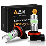 Alla Lighting H8 H16 H11 LED Fog Lights Bulbs 8000K Ice Blue 2800 Lumens Xtreme Super Bright COB-72 12V DRL Replacement for Cars, Trucks