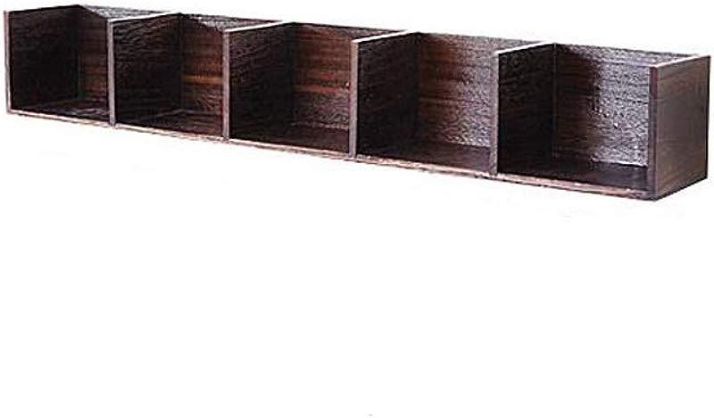 HU Simple Solid Wood Rectangular Wall Wordboard Shelf Rack Shelf Storage Rack