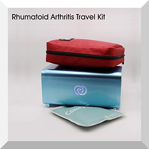 De Lifeina-set voor reizen met artritis en spondylitis. Vervoer uw medicijnen in vliegtuigen, treinen en auto's. Inclusief de LifeinaBox draagbare insuline koelkast en LifeinaBag24 isothermische zak.
