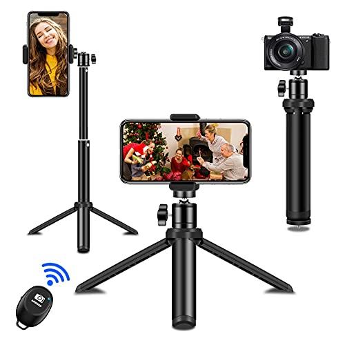 Diealles Shine Palo Selfie Trípode, Bluetooth Selfie Stick Remoto 360°con Control Giratorio y Bolsa con Cordón, Palo Extensible Compatible para iPhone Samsung Xiaomi Huawei
