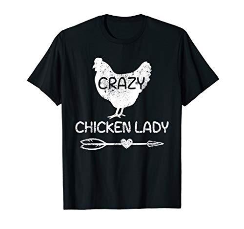 Crazy Chicken Lady Funny Farmer - Farming T-Shirt