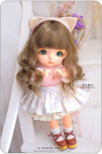 Tita-Doremi BJD Wig Ball-Jointed Doll 1/3 8-9 Inch 22-24cm Dollfie Pullip SD DOD DD Brown Toy Head Wig Hair (Wig Only, Not A Doll )