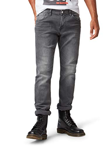 TOM TAILOR Denim Herren Slim Jeans Aedan,Grau (Grey Denim 10210),W33/L32