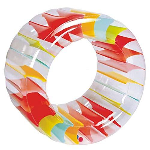 WLMGWRXB Rueda inflable gigante de la tierra gigante de la rueda del partido del arco iris inflable de la hierba del agua de la rueda del rodillo de verano de la piscina de gateo flotador
