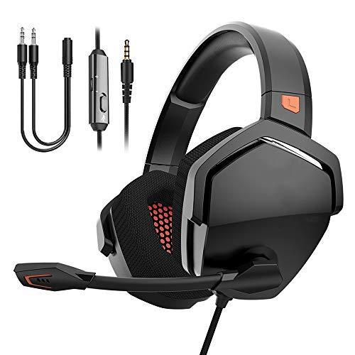 NUBWO Auriculares Gaming PS4,Cascos de Gaming PS4 Estéreo con Micrófono Plegable...