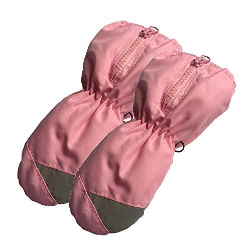 MEROURII Mädchenhandschuhe Handschuhe, Kinder Warme Handschuhe Skihandschuhe Touchscreen-Handschuhe Fahrradhandschuhe Winddicht wasserdichte Winterhandschuhe für Kinder 2-5 Jahre