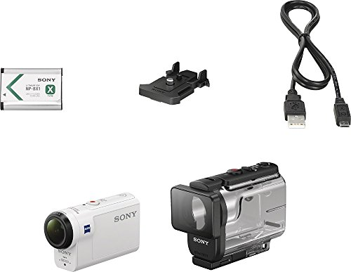 Sony HDRAS300/W HD Recording, Action Cam Underwater Camcorder, White