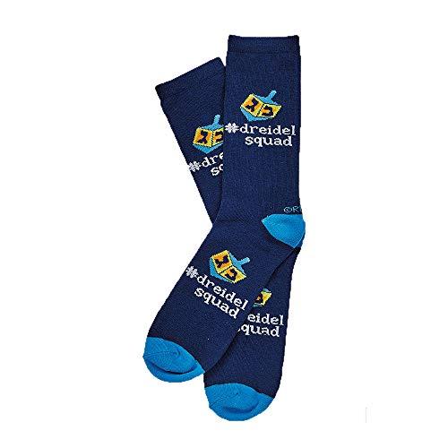 Chanukah Crew Socks'Dreidel Squad' Adults Size 10-13