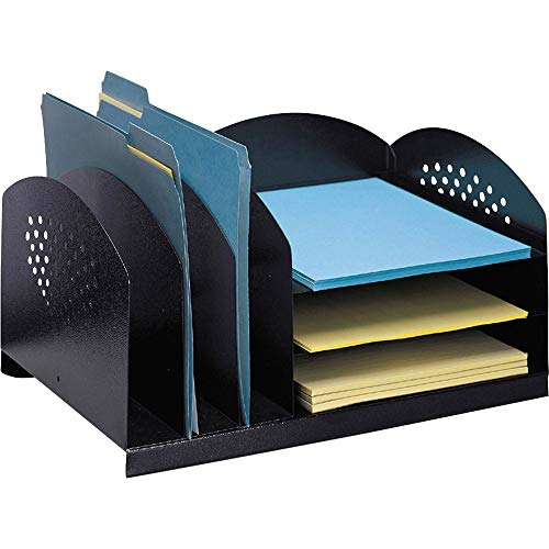 Safco products 3167bl steel desk combination organizer rack with 3...