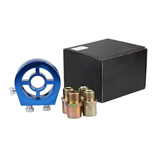 Ballylelly Aluminium Universal Auto Öltemperatur Öldruckanzeige Kühlfilter Sandwichplatte Adapter Zubehör Kit