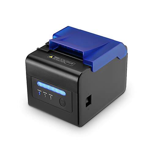 [Küchendrucker] Thermodrucker 300mm/s Bondrucker 80mm /Bon Ticketdruck/Ticketcode Thermodrucker/Profi-Küche Drucker - Wasserdicht, staubdicht, ölbeständig/Mit USB Seriell/Ethernet ESC/POS